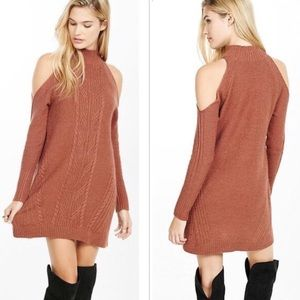 EXPRESS🌺 Cold Shoulder Cable Knit Dress